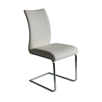 chrome Legs with white PU Dining chair Guanxin Home Furniture  DD1376-S