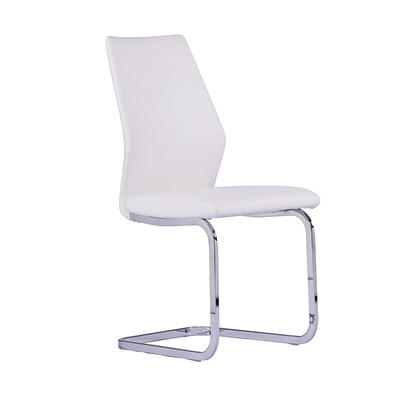 Dining chair Metal chairs Upholstered white pattern PU Metal chair Guanxin Furniture  DD1399-2