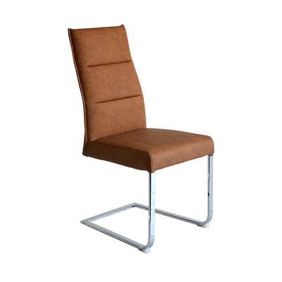 Modern PU Dining chair with Chrome legs Guanxin Home Furniture  DD1431-F