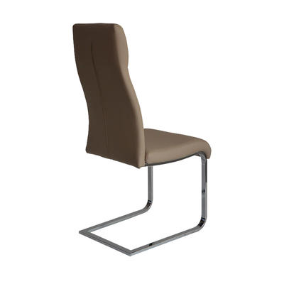 Modern PU Dining chair with Chrome legs Guanxin Home Furniture  DD1503-F