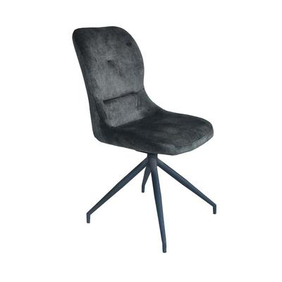 Dining chairs newest design metal chairs Upholstered brown fabric turnable chairs Guanxin Furniture  DD6812-4R