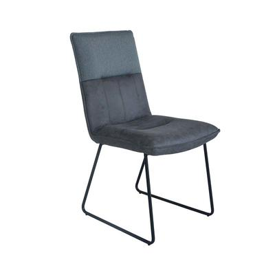 Dining Chair in Grey match Light Grey Fabric with Black Round Tube Guanxin Furniture  DD6880-O
