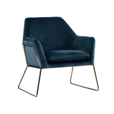 Living Room Accent chair Covers vintage dark blue Fabric Velvet Metal golded Guanxin Frame confortable Accent Chair Home Furniture