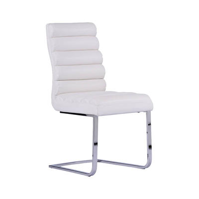 PU cover Metal Frame Upholstered white pattern PU Dining Chair Guanxin Home Furniture